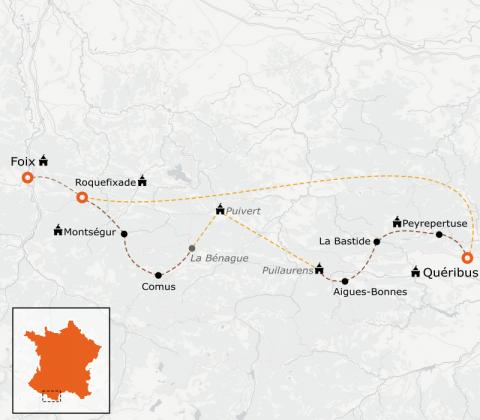 LaRébenne - Randonnée - Sentier Cathare (avec Guide)