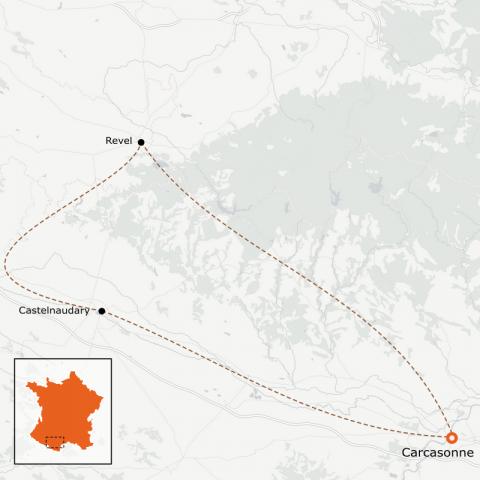 LaRébenne - Les Sources du Canal du Midi en vélo