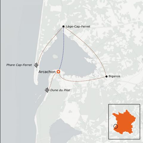 LaRébenne - La Vélodyssée et le Tour du bassin d'Arcachon