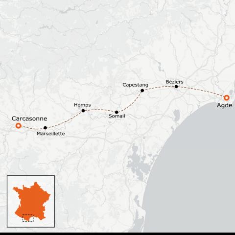 LaRébenne - Le Canal du Midi en vélo - version douce