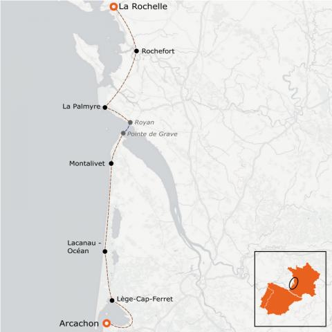 LaRébenne - La Vélodyssée - de La Rochelle à Arcachon