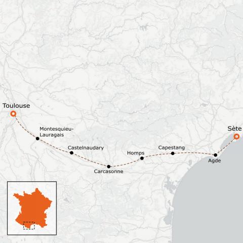 LaRébenne - Le Canal du Midi en vélo - version Equilibre