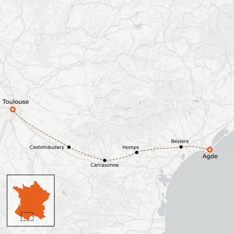 LaRébenne - Le Canal du Midi en vélo - Haut de Gamme
