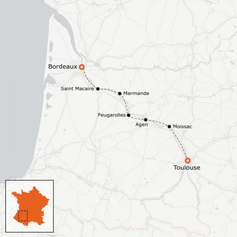 LaRébenne - Le Canal de Garonne à vélo