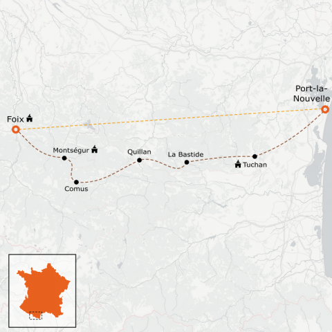 LaRébenne - VTT - L'intégrale du Sentier Cathare (Niveau 3)