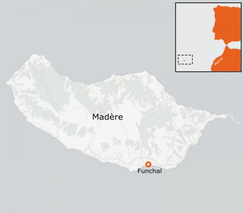 LaRébenne - Randonnée - Carte de Madère