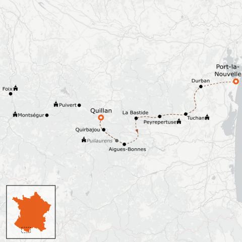 LaRébenne - Randonnée - Intégrale du sentier Cathare Partie 1 (de Port-la-Nouvelle à Quillan)