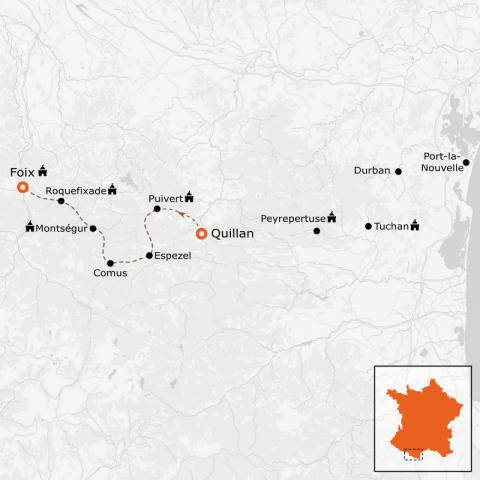 LaRébenne - Randonnée - Intégrale du sentier Cathare Partie 2 (de Quillan à Foix)