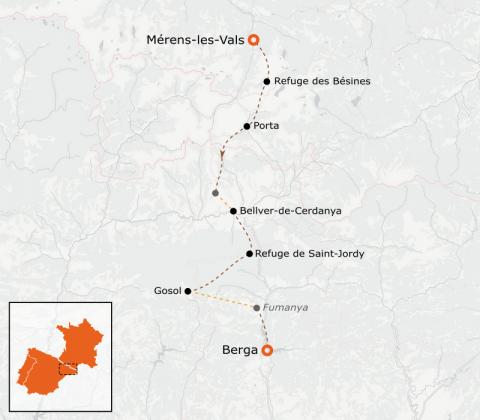 LaRébenne - Randonnée - Chemin des Bonshommes (Mérens Berga)