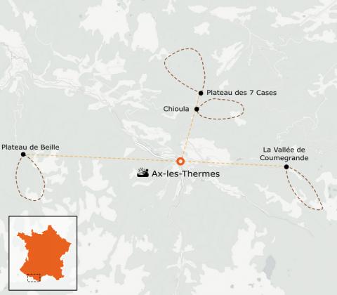 LaRébenne - Raquettes à neige - Les Pyrénées Ariégeoises en Vallée d'Ax