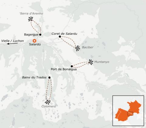 LaRébenne - Raquettes à neige - Encantats et Val d'Aran