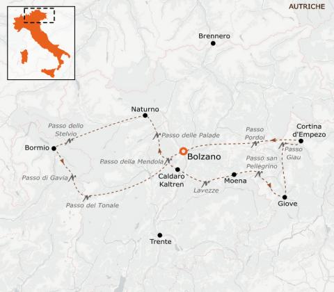LaRébenne - Vélo - Le Grand Tour des Dolomites (Alpes Italiennes)