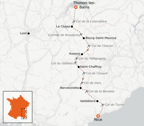 LaRébenne - Vélo - La Grande Traversée des Alpes (Haut de gamme)