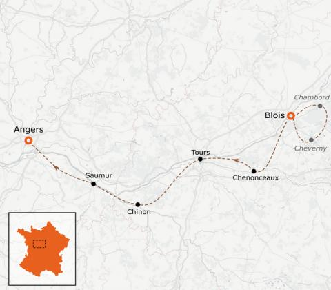 LaRébenne - VTC - la Loire à vélo - De Blois à Angers