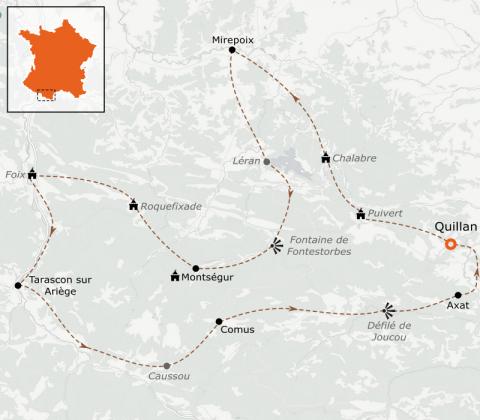 LaRébenne - VTC - Pays Cathare à vélo autour de Montségur