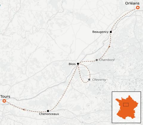 LaRébenne - VTC - la Loire à vélo - D'Orléans à Tours