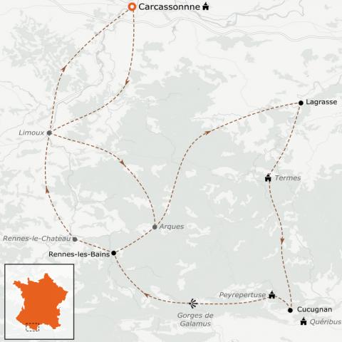 LaRébenne - VTC - Pays Cathare à vélo autour de Carcassonne