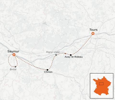 LaRébenne - VTC - la Loire à vélo - De Tours à Saumur