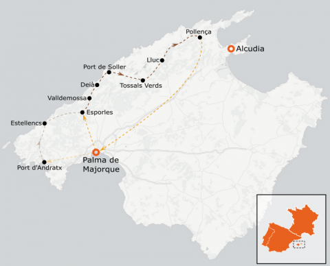 LaRébenne - Randonnée - Traversée de la Serra de Tramuntana (Majorque)