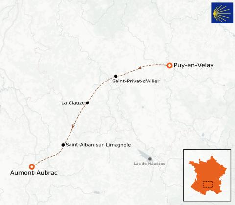 LaRébenne - Randonnée - Chemin de Compostelle - Du Puy-en-Velay à Aumont-Aubrac (étape 1)