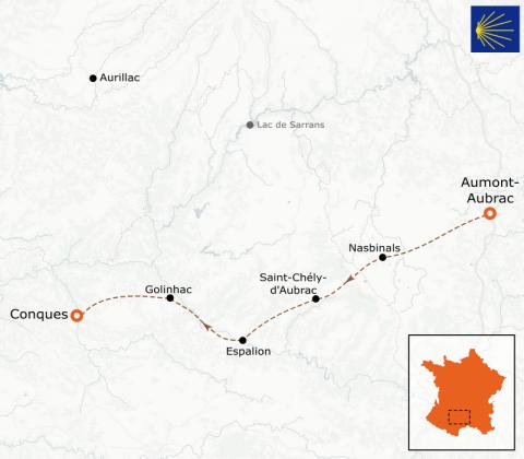 LaRébenne - Randonnée - Chemin de Compostelle - D'Aumont-Aubrac à Conques (étape 2)
