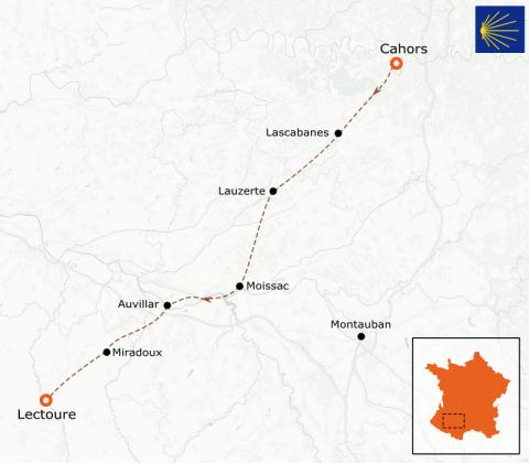 LaRébenne - Randonnée - Chemin de Compostelle - De Cahors à Lectoure (étape 4)