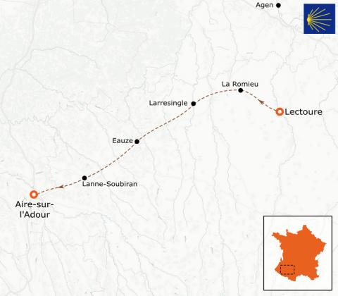 LaRébenne - Randonnée - Chemin de Compostelle - De Lectoure à Aire-sur-l'Adour (étape 5)