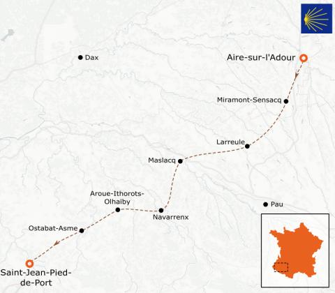 LaRébenne - Randonnée - Chemin de Compostelle - D'Aire-sur-l'Adour à Saint-Jean-Pied-de-Port (étape 6)