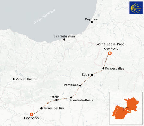 LaRébenne - Randonnée - Chemin de Compostelle -De Saint-Jean-Pied-de-Port à Logroño (étape 7)
