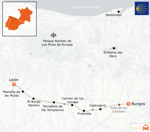 LaRébenne - Randonnée - Chemin de Compostelle - De Burgos à Leon (étape 9)