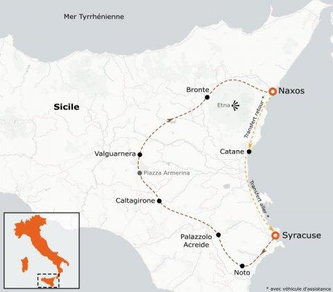 LaRébenne - Vélo de Route - Sicile - De Syracuse à Taormina par l'Etna