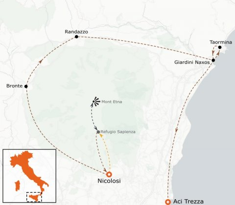 LaRébenne - Sicile - Les TErres de Légendes - Etna à Taormina