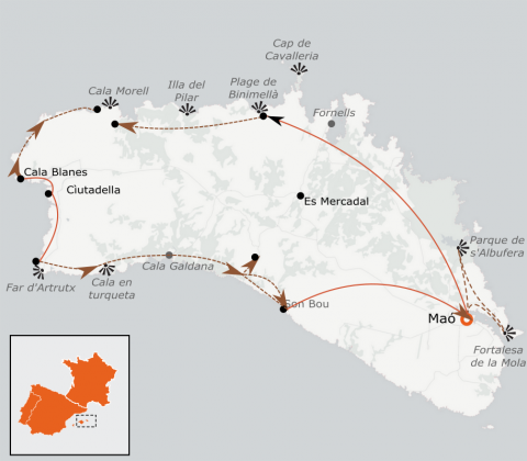 LaRébenne-randonnée-L'île de Minorque à pied