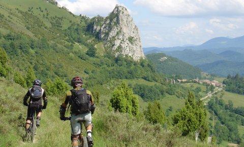LaRébenne - VTT - La boucle des trois châteaux en pays Cathare - Roquefixade