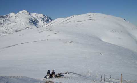 LaRébenne - Raquettes à neige - Pyrénées Ariégeoises Vallée d'Ax (Fourcat Scaramus)